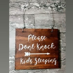 Other - Please dont knock kids are sleeping wall sign